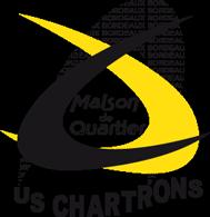 Logo de la maison de quartier de l'US Chartrons en noir et jaune