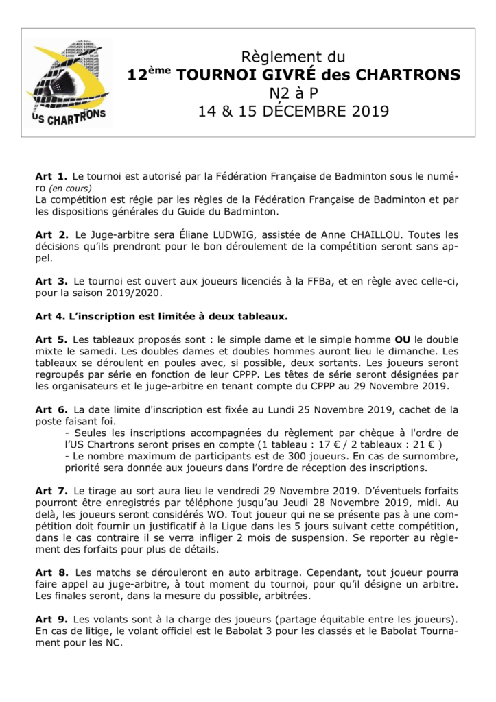 reglement tournoi 2019 page 1