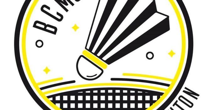 Logo du club de badminton de Martignas-sur-Jalles : un volant dans un cercle jaune et noir